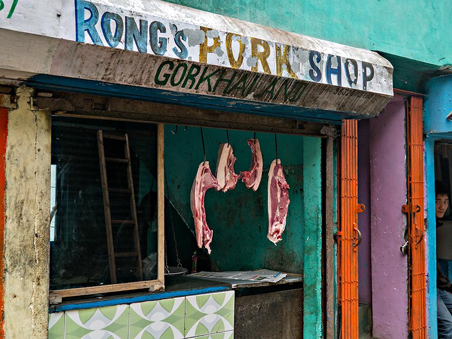 Butcher shop, Tenzing Norgay Road, Darjeeling