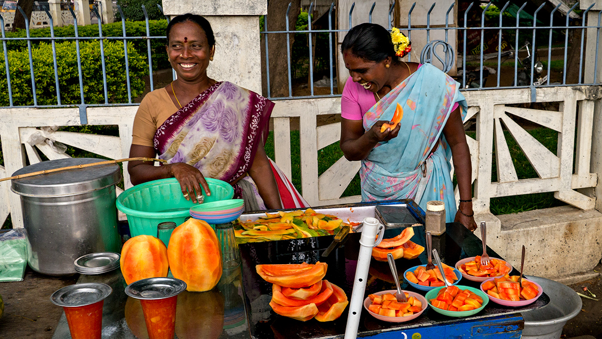 Fruit sellers, Vellore