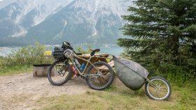 Bike at Spray Lakes West CG